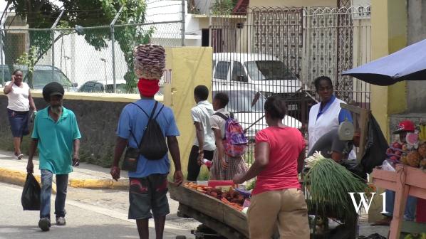 Menschen in Montego Bay