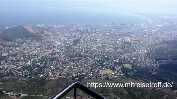 Herrlicher Blick vom Tafelberg auf Kapstadt