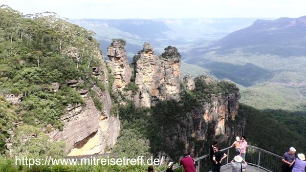 Blick auf die 3 Schwestern in den Blue Mountains