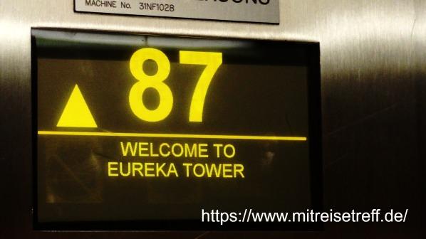 im Lift - 87 - Welcome to Eureka Tower