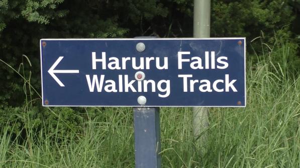Wegweiser von Haruru Falls Walking Track