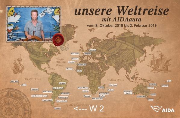 W 2 - Unsere Weltreise mit AIDAaura