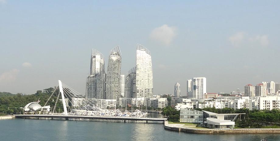 Abfahrt von Singapur mit Blick auf die Skyline