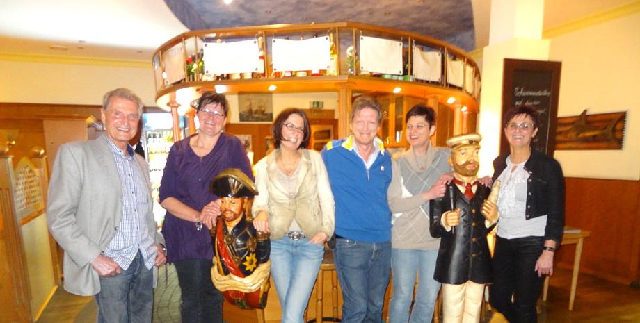 Gruppenfoto vom Treff am 26.03.2015 mit Winfried Lamm